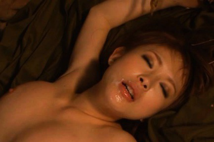Yuu Konishi Asian in fishnet has slit fucked deeply out of house