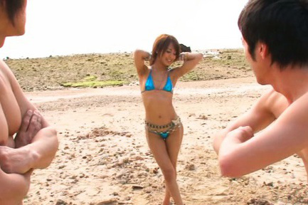 Yuuki natsume. Yuuki Natsume Asian takes bra off and rubs men nipples on beach
