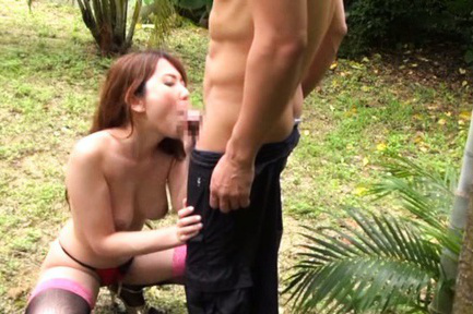Yui hatano. Yui Hatano Asian is undressed and has tits touched in jungle