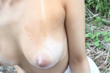 Airi suzumura. Airi Suzumura Asian sucks dick and rubs it between tits on field