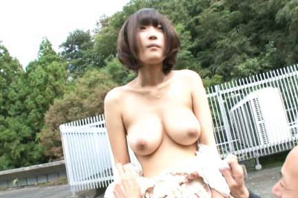 Yuzu ogura. Delicate Yuzu Ogura surprises an elder man with succulent breasts