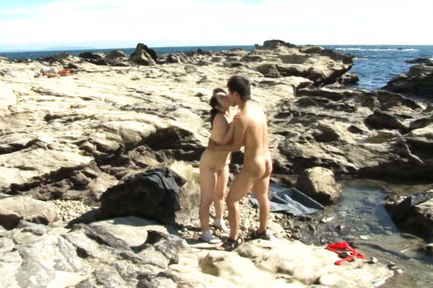 Yuuko kuremachi. Yuuko Kuremachi with huge cans gets dick under cloth at the ocean