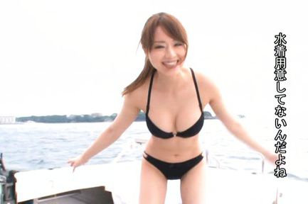 Akiho yoshizawa. Akiho Yoshizawa Asian shows hot curves and cock sucking cock at the sea