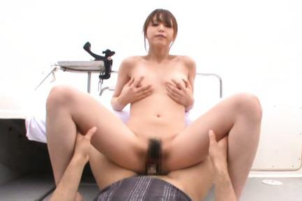 Akiho yoshizawa. Akiho Yoshizawa Asian touches her breasts while