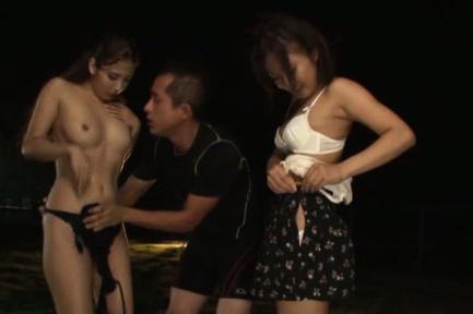 Japanese av model. Erotic AV Model kisses with a man while her