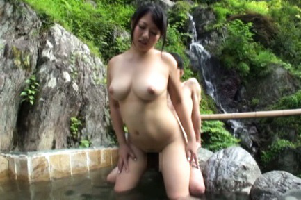 Japanese av model. Japanese AV Model has big boobs sucked while is make love at mountain