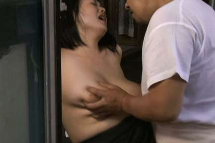 Japanese av model. Japanese AV Model has nasty breasts touched