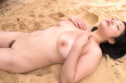 Minako komukai. Minako Komukai Asian with nasty tits is well make love on beach