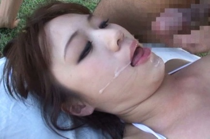 Eri hosaka. Eri Hosaka Asian in long socks gets cumshot in mouth after make love