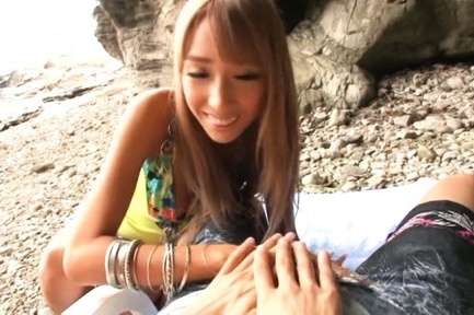 Riho hasegawa. Riho Hasegawa Asian with long nails licks and