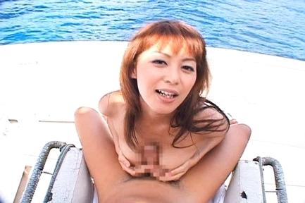 Honoka cute Asian with hard nipples as he plays with her boobs